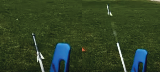 Students launch 3D-printed rockets for PLTW class