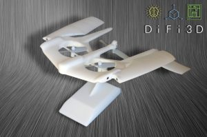 3D printed prototype of unmanned aerial vehicle