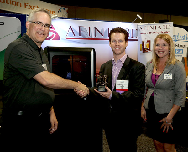 Accepting the RAPID 2015 Exhibitor Innovation Award