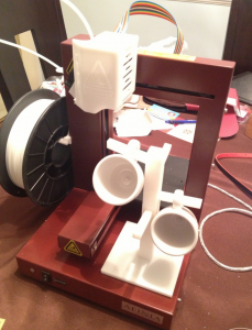 Afinia 3D printer with espresso rack