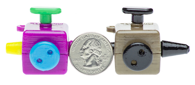 The Squidget fidgeting device is compact, not much larger than a quarter.