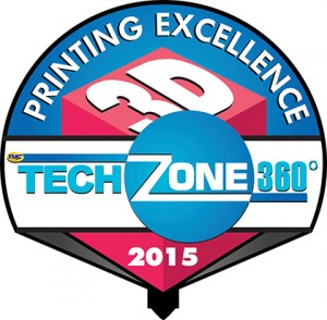 TechZone 360 2015 3D Printing Excellence Award