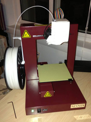Huxter's first Afinia H479 3D printer