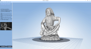 Completed 3D scan of oversize part