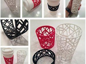 3D-printed coffee sleeve