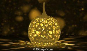 3D printed jack o lantern