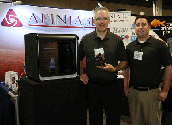 Westrum and Sterzinger with RAPID 2015 Exhibitor Innovation Award