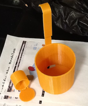 Students were challenged to design a completely new product. This is a BVS student's prototype of a new type of ice skimmer for ice fishing.