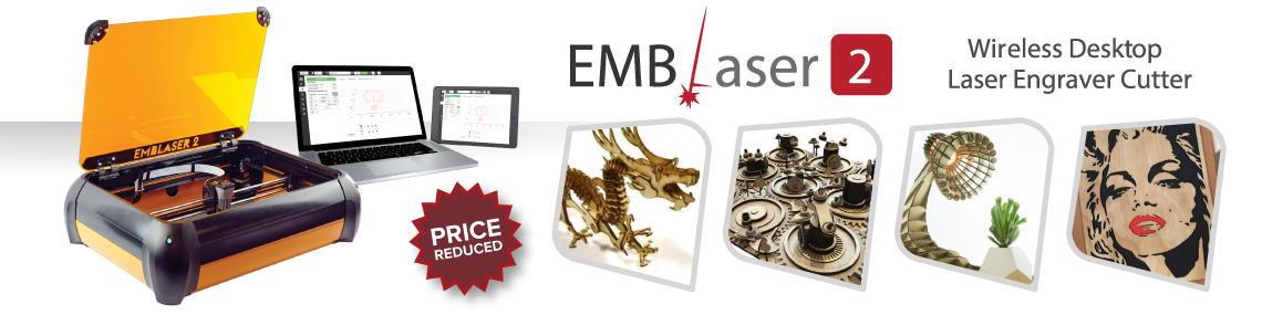 Emblaser 2 Laser Cutter & Engraver from Afinia 3D