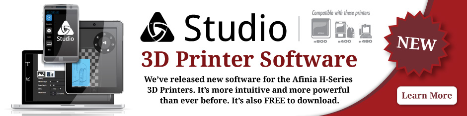 Afinia 3D Studio New Software for H-series 3D Printers