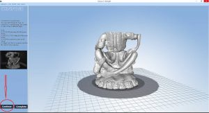 3D scanning oversize (too tall) part