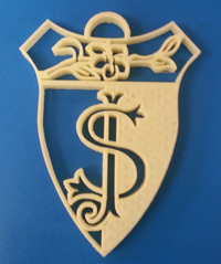 St. Joseph's Academy shows off their spirit with their school's 3D printed crest.