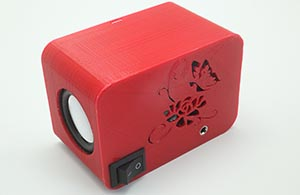 Mini Boom Box for 3D printing STEM curriculum