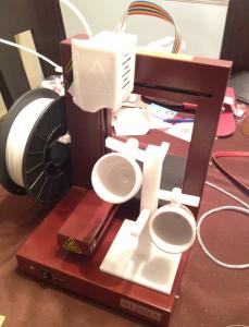 Afinia 3D printer with espresso rack