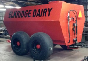 The custom made 3,000 gallon liquid manure spreader for a local dairyman.