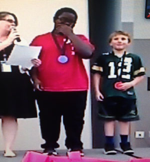Braille medal award ceremony