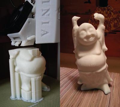 Afinia 3D printer prints Buddha figure