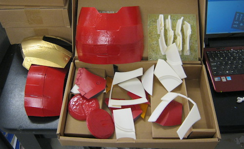 Iron Man Mask Parts