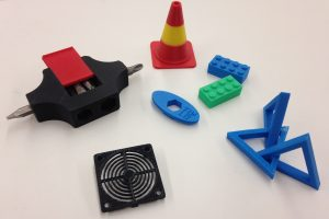 Miscellaneous 3D prints by students.
