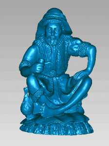 3D scan of statue using free scan mode
