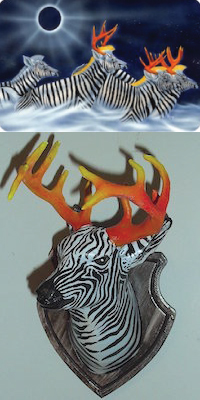 Zebra art and 3D print